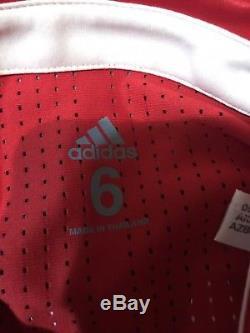 Bayern Munich Lahm 6 Germany Player Issue Adizero Trikot Soccer Football Jersey