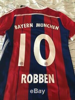 Bayern Munich Legend Robben Adidas Jersey #10 Size M
