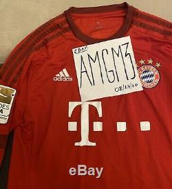 Bayern Munich Lewandowski Bundesliga Champions League Soccer Adidas Jersey Sz L