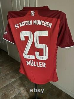 Bayern Munich Müller Home 2021 Jersey US Adult Large