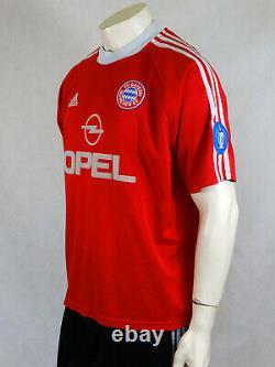 Bayern Munich Munchen Cup Football Shirt Jersey Trikot 2001 2002 Adidas XL