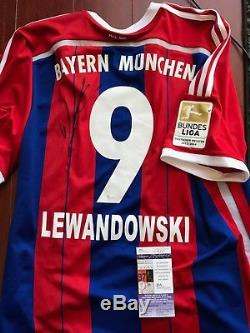 Bayern Munich Robert Lewandowski Autographed Signed Brand New Jersey JSA COA BNT