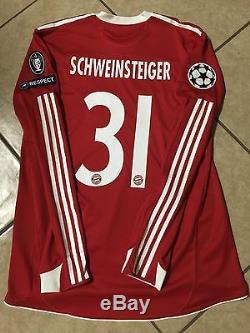 Bayern Munich Schweinsteiger XL Player Issue Formotion Uefa Trikot Jersey shirt