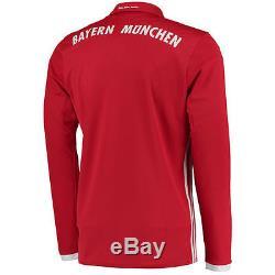 Bayern Munich adidas 2016/17 Home Long Sleeve Jersey Red International Clubs