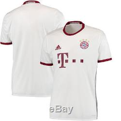 Bayern Munich adidas 2016/17 Third Jersey White/Maroon International Clubs