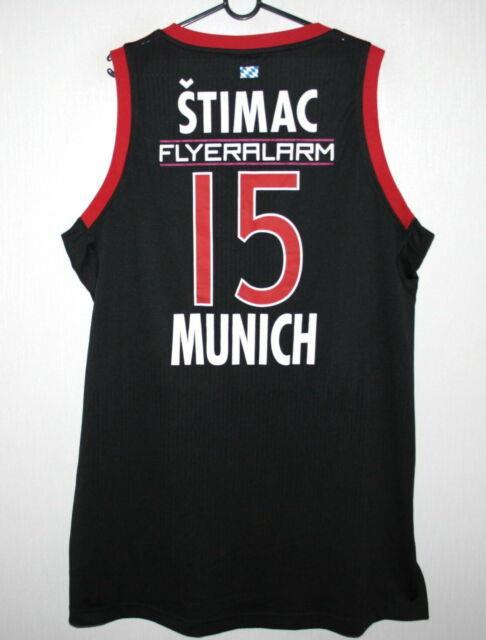 Bayern Munich Basketball Match Worn Shirt Jersey #15 Stimac Adidas 2014 2015 3xl