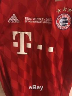 Bayern munich jersey Champions Leauge Final Jersey 2013 L BNWT Robben 10 Red