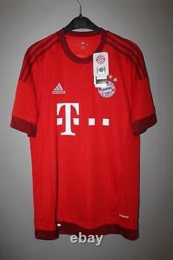 Bnwt Bayern Munchen 2015/2016 Home Football Shirt Jersey Adidas #32 Kimmich