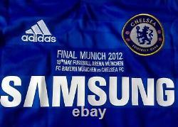 Chelsea 2012 Champions League Final Jersey v Bayern Munich, Drogba 11 Size XL
