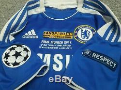 Chelsea Champion League Final 2012 shirt jersey Bayern Munich blue home patch