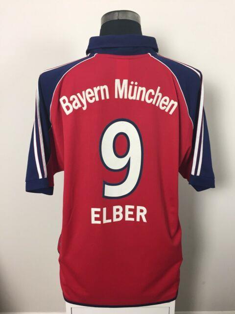Elber #9 Bayern Munich Home Football Shirt Jersey 1999-2001 (xl)