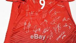 Euro 2016 POLAND Squad Signed Shirt Jersey + COA, Lewandowski Bayern Munich