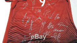 Euro 2016 Poland Squad Signed Shirt Jersey withCOA Lewandowski Bayern Munchen
