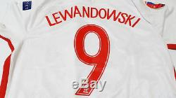 Euro 2016 Poland Squad Signed Shirt Jersey withCOA Lewandowski Bayern Munich