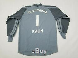 FC Bayern Munchen Adidas Jersey Men's Medium Oliver Kahn Goalkeeper Munich Gray