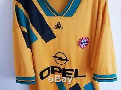 FC Bayern München Munich Football Away Shirt 1993-1994 (XL) Adidas Jersey Trikot