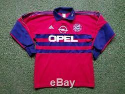 FC Bayern München Torwart Trikot M 1997 98 Adidas Shirt Jersey Munich Opel KAHN