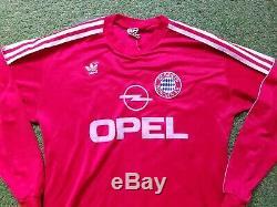 FC Bayern München Trikot L 1989 1990 Adidas Munich Football Shirt jersey Opel