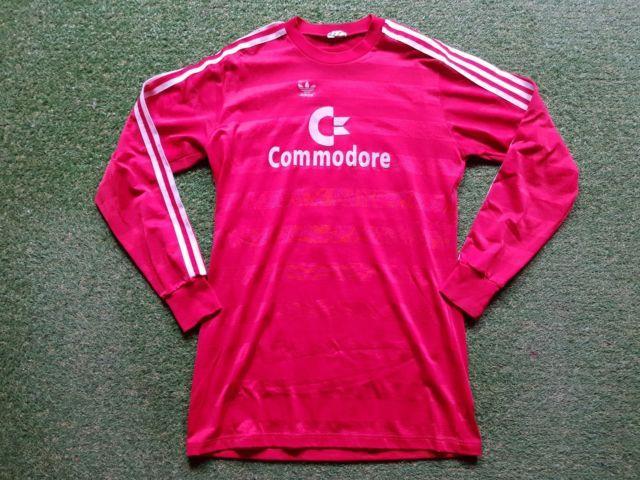 Fc Bayern München Trikot L 84/85 Adidas Football Shirt Jersey Munich Commodore