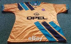 FC Bayern München Trikot Munich XL 93/94 Adidas Shirt Jersey gelb Opel
