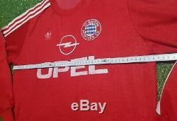 FC Bayern München Trikot XL 1989 1990 Adidas Munich Football Shirt jersey Opel