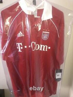 FC Bayern Munich 2005/2006 Ballack Home Sz L Adidas shirt jersey soccer