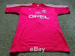 FC Bayern Munich Jersey L 1989 1990 Adidas Munich Football Shirt Jersey