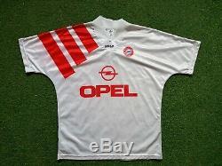 FC Bayern Munich Jersey L 1991 1992 Adidas Munich Football Shirt Jersey Opel