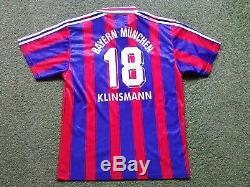 FC Bayern Munich Jersey L 1995 1996 Adidas Opel Shirt Jersey 18 Klinsmann