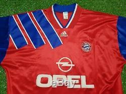 FC Bayern Munich Jersey XL 1993 1994 Adidas Football Shirt Vauxhall