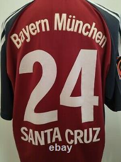 FC Bayern Munich München 2001/2002 #24 SANTA CRUZ Trikot Shirt Adidas XL Jersey