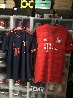 FC Bayern Munich München Home & 3rd Adidas Soccer Football Jersey Men's M 19/20