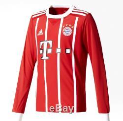 FC Bayern Munich München Shirt Home 17-18 Adidas Soccer Football Jersey Mens LS