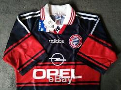 FC Bayern Munich Munchen Trikot Adidas Opel Retro Jersey 1997/1998/1999 Gr. S