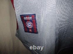 FC Bayern Munich adidas Cl. Final Jersey 1999 Vauxhall +Nr. 19 Jancker GR. XXL