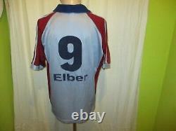 FC Bayern Munich adidas Cl. Final Jersey 1999 Vauxhall +Nr. 9 Elber Size M