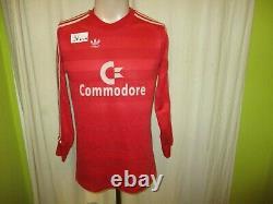 FC Bayern Munich adidas Long Sleeve Jersey 1987/88 Commodore +Nr. 9 SIZE S