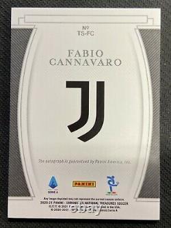 Fabio Cannavaro 2020-21 Chronicles Soccer National Treasures Auto /199 JUVENTUS