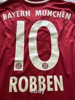 Fc Bayern Munchen 2011-12 Ls Robben Home Jersey Bnwt Size Small