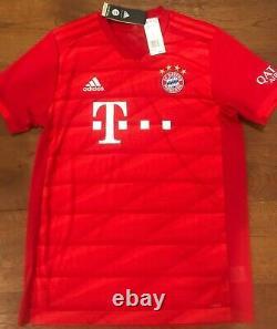 Fc Bayern Munchen Adidas 2019-20 Home Soccer Jersey Shirt Large Treble Champ $90