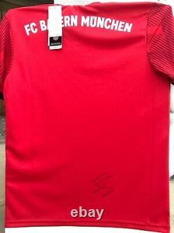 Fc Bayern Munchen Signed Jersey Neuer+muller+lewandowski+gnabry+kimmich+goretzka