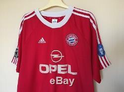 Fc Bayern Munich 2003\2005 CL Football Jersey Trikot Shirt Vintage #19 Jancker