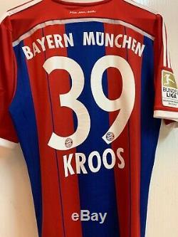Fc Bayern Munich 2014/15 Home Shirt Trikot Jersey Maglia Kroos Adidas