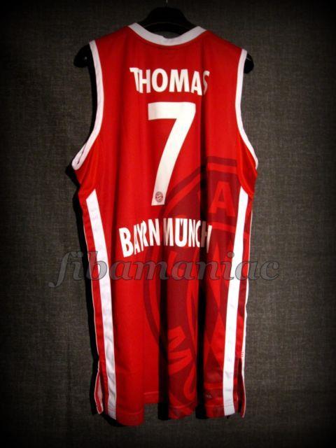 Fiba Brandon Thomas Bayern Munich Genuine Basketball Jersey