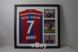 Franck Ribery Signed & FRAMED Bayern MUNICH JERSEY AFTAL COA (A)