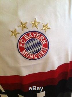 GERMANY BAYERN MÚNICH ADIDAS SOCCER WHITE JERSEY NWT SIze M MEN'S