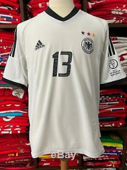 GERMANY home 2002 shirt BALLACK #13 Bayern Munich-Chelsea-Trikot-Jersey (L)