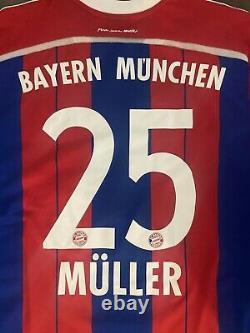 Germany Bayern Munich Adidas Muller Jersey Football Shirt Rare Size L