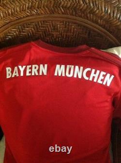 Germany Bayern Múnich Adidas Soccer Red Jersey Nwt Sz M Mens