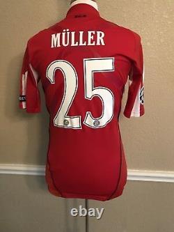 Germany Bayern Munich Muller L Trikot Player Issue Techfit Football Shirt Jersey